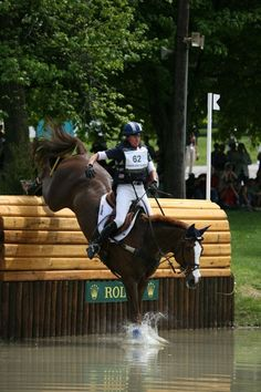 true athletes.  Karen O'Connor and Mr. Medicott XC - Rolex 2012