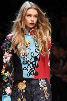 Nice style and color combinations! Dolce & Gabbana | Milan Fashion Week | Spring 2017