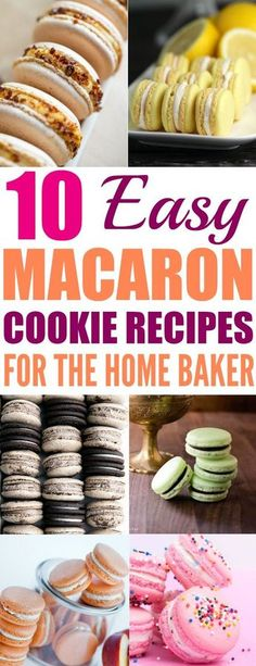 How to Make 10 Easy Macaron Recipes Are you scared to make the fancy French sandwich cookies? Now you don't have to go through culinary school to make delicious & beautiful Macaron cookies. Macaroon Filling, Macaroon Cookies, Coconut Cookies, Macaron Cake, Macaroons Flavors, French Sandwich, Cookie Recipes, Dessert Recipes, Fun Recipes