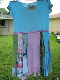 This gives me an idea - modified with a longer T and scrappy skirt --- Oh yea!