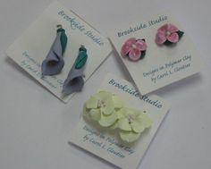 Carol Cloutier clay earrings.