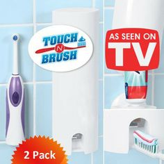 Touch N Brush Hands Free Tooth Paste Dispenser Chrome Toothpaste Squeezer, Sonic Electric Toothbrush, Soap Dispensers, See On Tv, Bathroom Sets, Own Home, Health And Beauty, Chrome, Personal Care