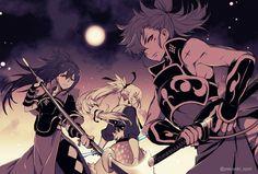 Fire Emblem Fates Birthright - Oboro, Takumi, and Hinata by Kanya