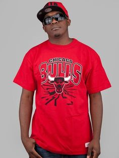Mitchell & Ness Chicago Bulls On The Ground Scarlet