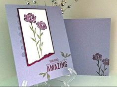 Simply Simple FLASH CARD 2.0 - Painted Petals Amazingly Amazing Card by Connie Stewart - YouTube