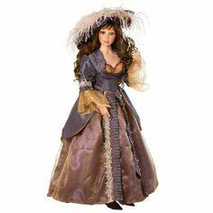 Victorian Doll, Camille, 34 inch Porcelain Doll (Artist: Pat Dezenski)