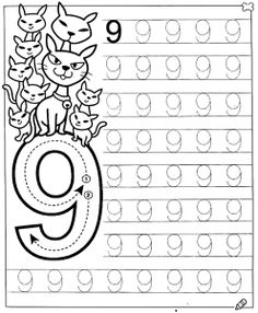 New System-Suitable Numbers Line Study - Preschool Children Akctivitiys Preschool Writing, Numbers Preschool, Learning Numbers, Free Preschool, Math Numbers, Preschool Printables, Preschool Lessons, Preschool Learning, Kindergarten Math