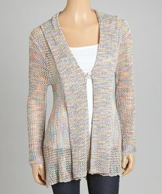 This Blue & Green Button Cardigan by Katie Todd is perfect! #zulilyfinds