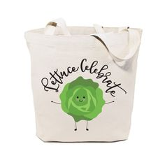 Cotton Canvas Lettuce Celebrate Tote Bag – The Cotton and Canvas Co.