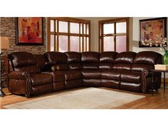 Tacoma Valley Brown 9 Pc Power Reclining Sectional Living Room