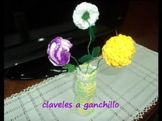 Clavel a crochet - YouTube
