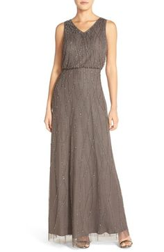 Candela 'Antibes' Beaded V-Neck Gown (Nordstrom Exclusive) available at #Nordstrom