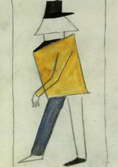 Costume for Victory over the Sun. Coward, 1913 - Kazimir Malevich