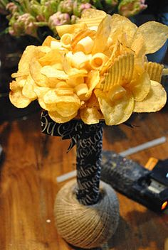 Crisp Bouquet by By Appointment Only Design - would be a great way to present late-night buffet snacks