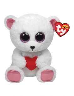VALENTINE'S DAY WHITE BEAR 6 INCH BEANIE BOO | GIRLS STUFFED ANIMALS BEAUTY, ROOM & TOYS | SHOP JUSTICE