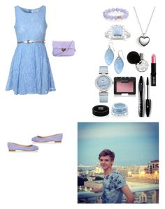 """""""Park date with bf, Thomas Brodie Sangster"""" by creative-with-fashion ❤ liked on Polyvore featuring Glamorous, Sergio Rossi, Pandora, Lord & Berry, Nest, BillyTheTree, Alexis Bittar, OMEGA, Paul Brodie and Lancôme"""