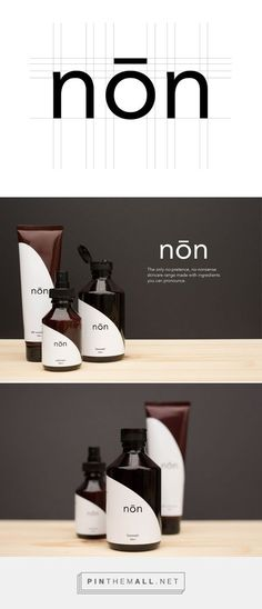 nōn - Skincare Brand and Packaging Design on Behance... - a grouped images picture - Pin Them All