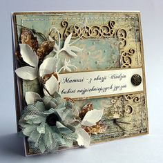 by Dorota_mk, vintage style card. For My other handmade greeting cards visit me at My English Personal blog: http://stampingwithbibiana.blogspot.com/