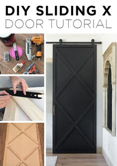 DIY Sliding X Door Tutorial sponsored by diy home improvement DIY Sliding X Door Tutorial Home Remodeling Diy, Home Renovation, Kitchen Remodeling, Home Improvement Projects, Home Projects, Home Improvements, Porta Diy, Diy Slides, Diy Casa