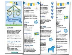 Sånghäfte till midsommar - skriv ut gratis! - Fira fest Singing, Text Posts