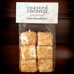 Jumbo Toasted Coconut Gourmet Marshmallows by SoManySomethings