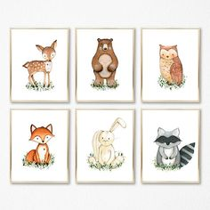 ♥ Set of 6 Woodland Nursery Printable Digital Files (8X10, 5X7, 4X6, 8.5x11 & A5) ►Add a PRINTED COPY (mailed to you) here: https://www.etsy.com/listing/503291080 *if the above link does not work please see my shop announcement at the top of my shop home page for more details.