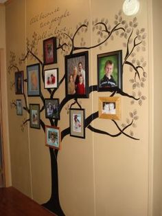 The Family Tree Mural in our hallway...I adore this <3