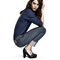With tall cuffs and frayed hems, the new range of women's Red Listing denims is the latest in selvedge denim.