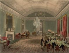 The interior of a gaming room at Brooks's,   Rowlandson and Pugin, 1808.