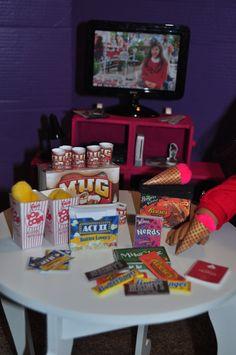 American Girl 18 inch Doll Movie Night Food von gleefulbambino
