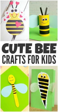 These cute bumble bee crafts for kids are perfect for spring, summer, or anytime the little ones are learning about bees.