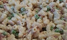 """Ranch & Bacon Pasta Salad! """"Mmm mmm! Bacon and ranch!""""  @allthecooks #recipe #pasta #salad #side #bacon #easy"""