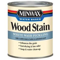 Minwax 1-qt. White Wash Pickling Water Based Stain-61860 at The Home Depot- For the countertops I will install in the kitchen