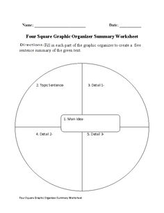 Worksheets Summary Worksheets article summary worksheet englishlinx com board pinterest four square worksheet