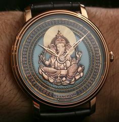 Blancpain Villeret Shakudo Ganesh & Coelacanth Engraved Dial Watches Hands-On - by Ariel Adams