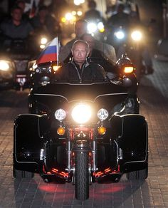President Vladimir Putin he is the leader of the pack riding his Black Knight 'Tsar of the road' A True Leader