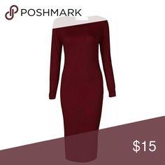 Wine Bodycon Dress Wine color Bodycon dress. New Never Worn Crazy Girls Dresses