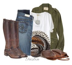 """""""casual"""" by stacy-gustin ❤ liked on Polyvore featuring Velvet, American Vintage, Lipsy, AG Adriano Goldschmied, Frye, Monserat De Lucca, SimpleOutfits and ootd"""