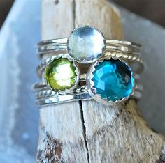 Stackable Expressions make great birthstone rings for mom!