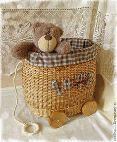 "Купить ""Toys"" Короб для игрушек - корзина для игрушек, короб для игрушек, плетеная корзина, for toys"