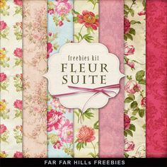 Far Far Hill - Free database of digital illustrations and papers: New Freebies Kit of Floral Paper