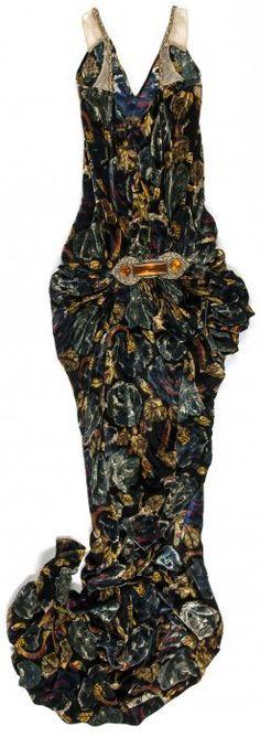 * Robe longue en panne de soie - Callot Sœurs, vers 1927