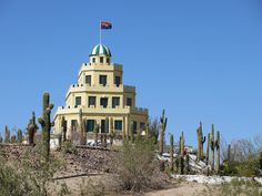 """Tovrea Castle, The """"Wedding Cake House"""" in Phoenix, Arizona; owned by a non-profit group, the restored property is available for tours and for special events."""
