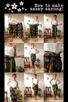 Batik Amarillis Made in Indonesia How to wear sassy sarong!From the collection: My Closet on Clozette IndonesiaTie a sarong Kebaya Hijab, Kebaya Brokat, Kebaya Dress, Batik Kebaya, Kebaya Muslim, Batik Dress, Sarong Dress, Blouse Batik, Batik Fashion