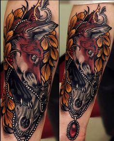 Brando Chiesa   I need this amazing fox tattoo on my body