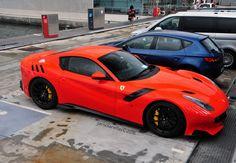 Ferrari in Barcelona, Spain Spotted on by jansolanellas My Dream Car, Dream Cars, Harley Davidson Breakout Custom, Ferrari F12 Tdf, Lux Cars, Cycling Girls, Weird Cars, Car Wheels, Amazing Cars