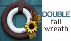 What's better than one wreath? A double wreath!