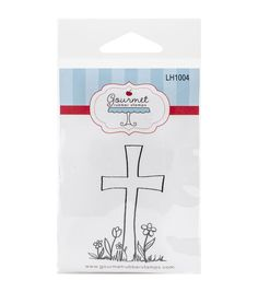 Gourmet Rubber Easter Cross Cling Rubber Stamps