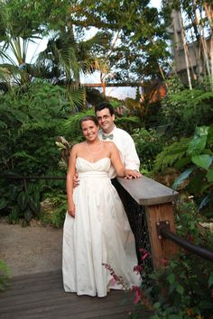 The Butterfly Rainforest at the Florida Museum is perfect for engagement or wedding photos!