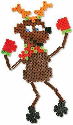HAMA - PERLER BEADS / PERLES à REPASSER / STRIJKPARELS - CHRISTMAS / KERSTMIS - Christmas Reindeer Perler Beads - Biggie Fused Bead Kit